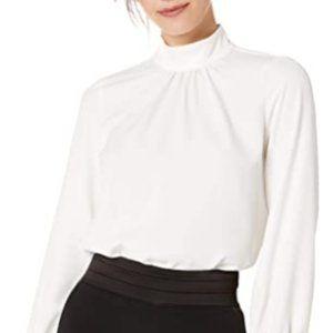 Tops - Women's Mock Neck Long Sleeve Blouse